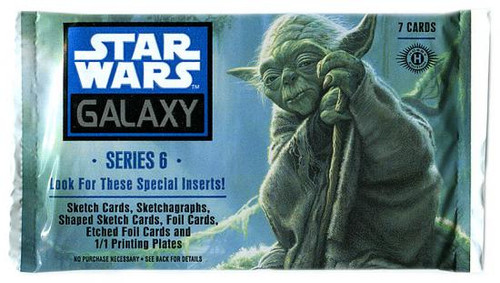 Star Wars Galaxy Series 6 Hobby Edition Trading Card Pack
