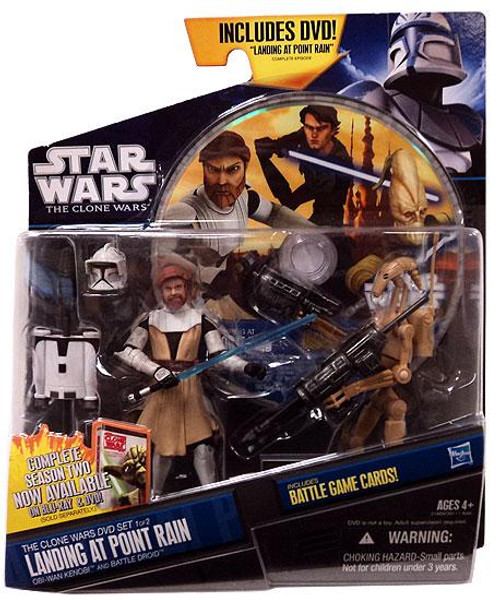 Star Wars The Clone Wars Exclusives 2011 Landing at Point Rain DVD Exclusive Action Figure 2-Pack