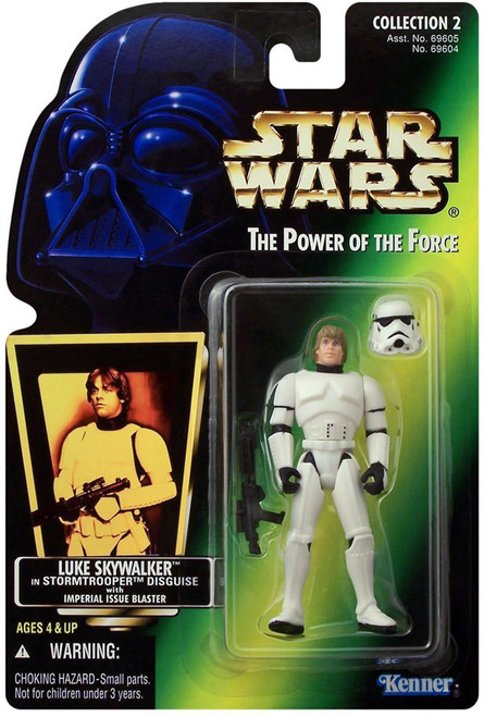 Star Wars A New Hope Power of the Force POTF2 Collection 2 Luke Skywalker in Stormtrooper Disguise Action Figure [Hologram Card]