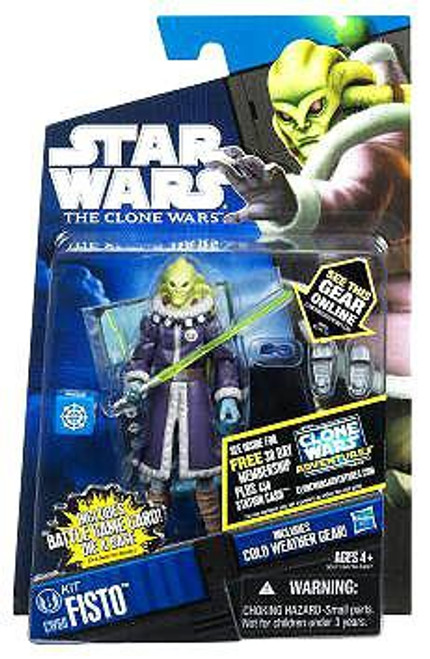 Star Wars The Clone Wars Clone Wars 2011 Kit Fisto Action Figure CW60 [Cold Weather Gear]