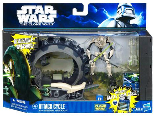 Star Wars The Clone Wars Vehicles & Action Figure Sets 2011 Attack Cycle with General Grievous Action Figure Set