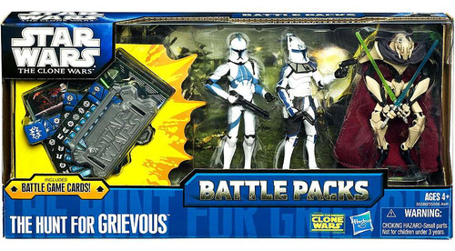Star Wars The Clone Wars Battle Packs 2011 The Hunt for Grievous Action Figure Set