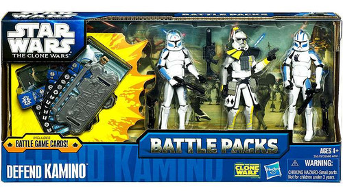 Star Wars The Clone Wars Battle Packs 2011 Defend Kamino Action Figure Set