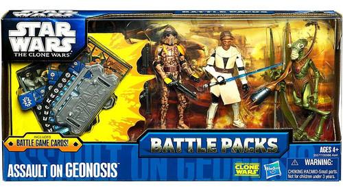 Star Wars The Clone Wars Battle Packs 2011 Assault on Geonosis Action Figure Set