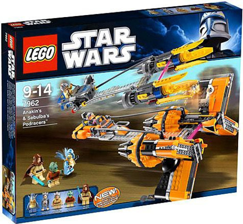 LEGO Star Wars The Phantom Menace Anakin & Sebulbas Podracers Set #7962