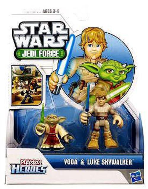 Star Wars Jedi Force Yoda & Luke Skywalker Mini Figure 2-Pack