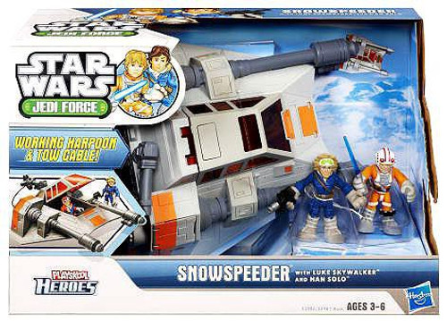 Star Wars Jedi Force Snowspeeder with Luke Skywalker & Han Solo Mini Figure Set