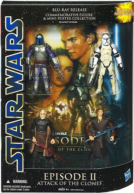 Star Wars Episode II Attack of the Clones Action Figure Set [Blu-Ray Release]