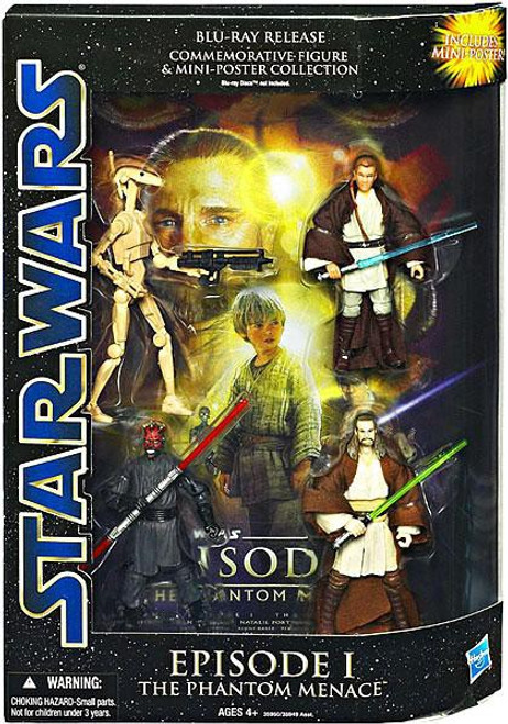 Star Wars The Phantom Menace DVD Collections Blu-Ray Release Commemorative Action Figure Set