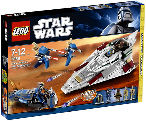 LEGO Star Wars The Clone Wars Mace Windu's Jedi Starfighter Exclusive Set #7868