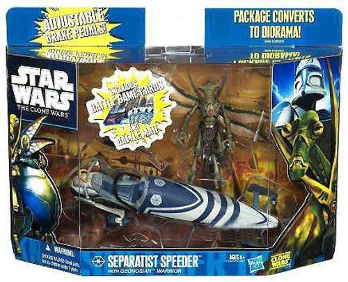 Star Wars The Clone Wars Vehicles & Action Figure Sets 2011 Separtist Speeder with Geonosian Warrior Exclusive Action Figure Set