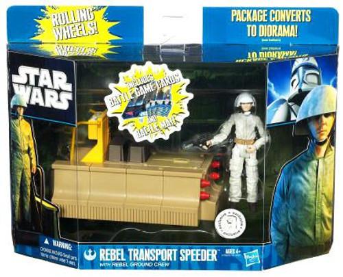 Star Wars The Clone Wars Vehicles & Action Figure Sets 2011 Rebel Transport Speeder with Rebel Ground Crew Exclusive Action Figure Set