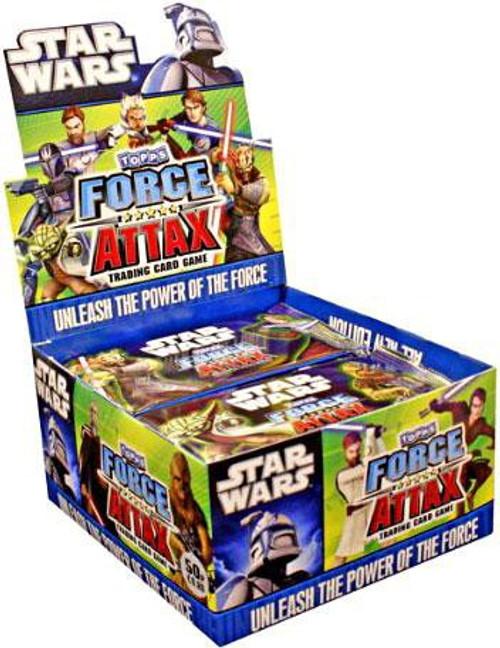 Star Wars The Clone Wars Force Attax Booster Box