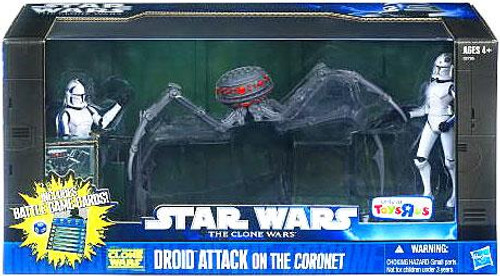 Star Wars The Clone Wars Boxed Sets 2011 Droid Attack on the Coronet Exclusive Action Figure Set