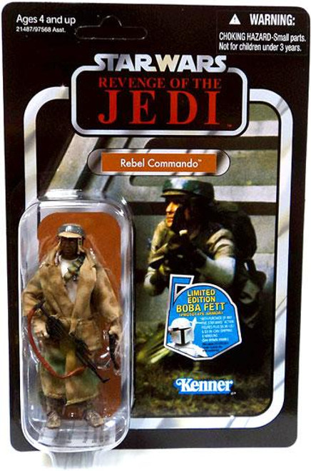 Star Wars Return of the Jedi Vintage Collection 2010 Rebel Commando Action Figure #26 [Dark Skin]