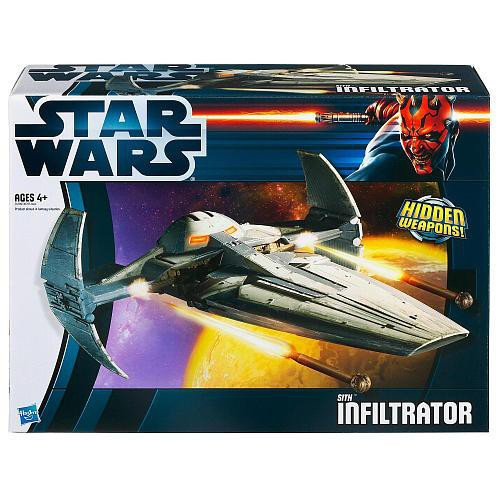 Star Wars The Phantom Menace Vehicles 2012 Sith Infiltrator Action Figure Vehicle