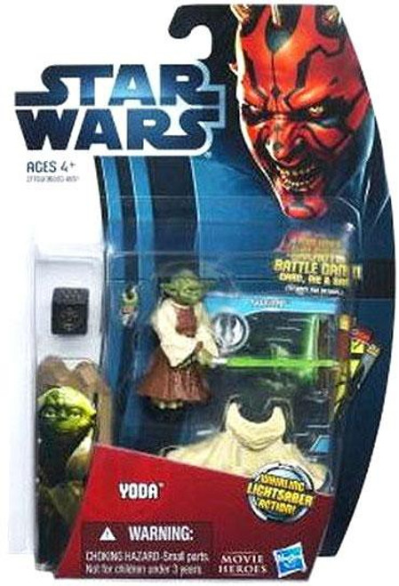 Star Wars Attack of the Clones Movie Heroes 2012 Yoda Action Figure #9