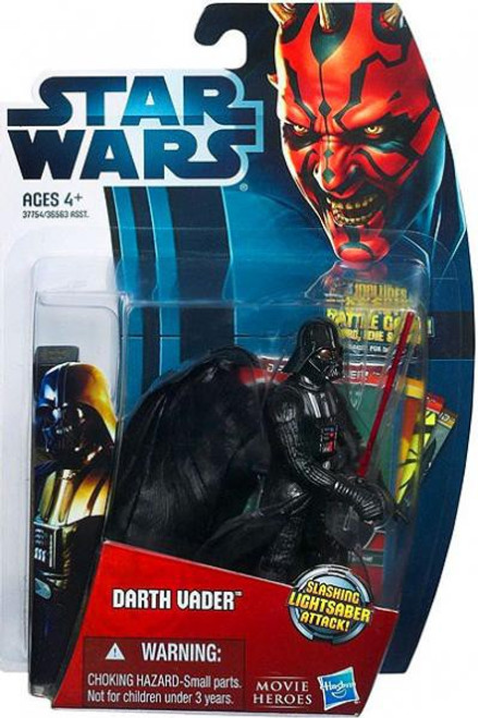 Star Wars Empire Strikes Back Movie Heroes 2012 Darth Vader Action Figure #6 [Version 1]