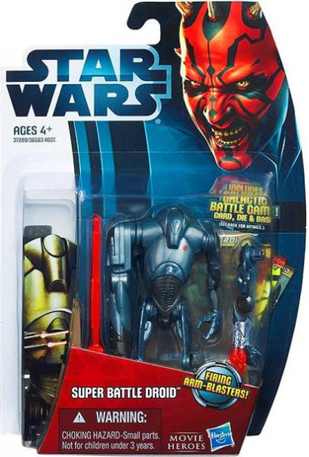 Star Wars Attack of the Clones Movie Heroes 2012 Super Battle Droid Action Figure #2