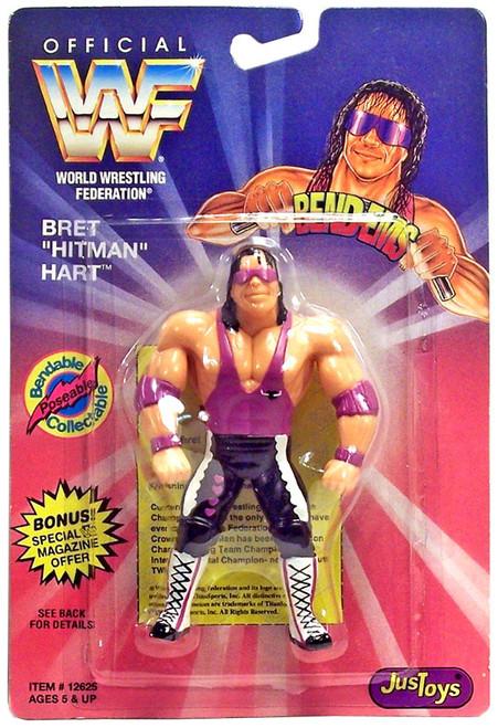 "WWE Wrestling WWF Bend-Ems Series 1 Bret ""The Hitman"" Hart Rubber Figure"