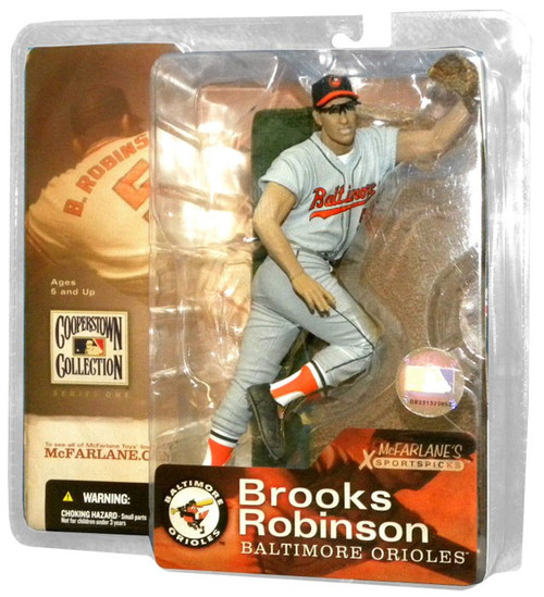 McFarlane Toys MLB Cooperstown Series 1 Brooks Robinson (Baltimore Orioles) Action Figure [Gray Jersey]