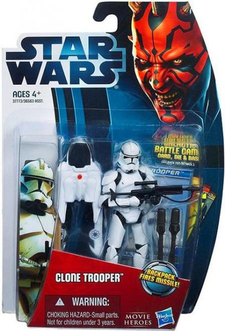 Star Wars The Clone Wars Movie Heroes 2012 Clone Trooper Action Figure #11