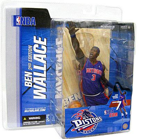 McFarlane Toys NBA Detroit Pistons Sports Picks Series 7 Ben Wallace Action Figure [Blue Jersey Corn Row Variant]