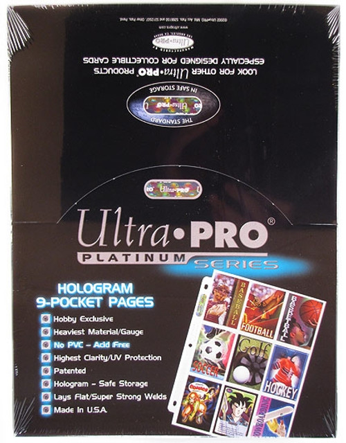 Ultra Pro Card Supplies Platinum Series 9-Pocket Pages [100 ct]