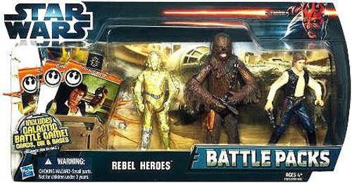 Star Wars A New Hope Battle Packs 2012 Rebel Heroes Action Figure Set