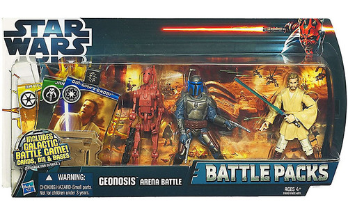 Star Wars Attack of the Clones Battle Packs 2012 Geonosis Arena Battle Action Figure Set