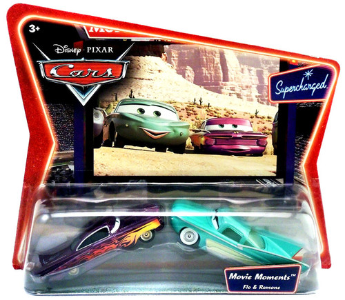Disney Cars Supercharged Movie Moments Flo & Ramone Diecast Car 2-Pack