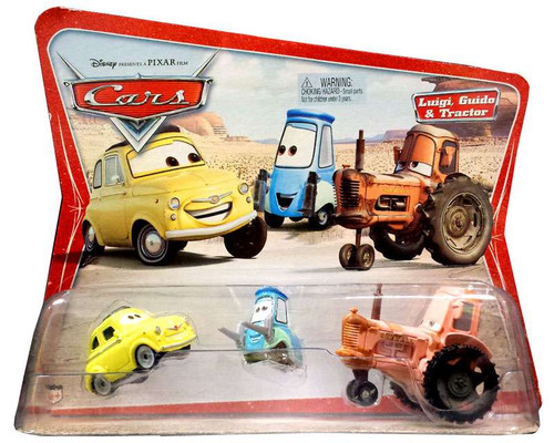 Disney Cars Series 1 Luigi, Guido & Tractor Diecast Car 3-Pack