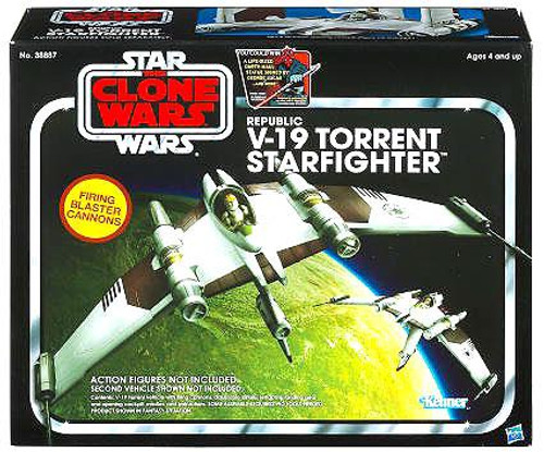 Star Wars The Clone Wars Vintage Collection Vehicles V-19 Torrent Starfighter Action Figure Vehicle