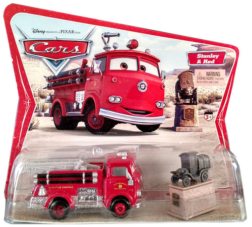 Disney Cars Series 1 Stanley & Red the Firetruck Diecast Car 2-Pack [Movie Moments]