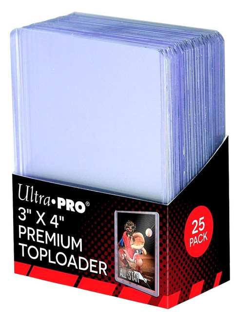 "Ultra Pro Card Supplies Toploader Series 3"" X 4"" Premium Toploader 35pt Card Holders [25 Count]"