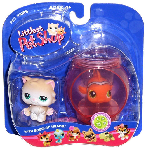 Littlest Pet Shop Pet Pairs Cat & Clown Fish Figure 2-Pack