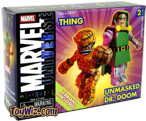 Marvel Universe Minimates Thing & Unmasked Doctor Doom Minifigure 2-Pack