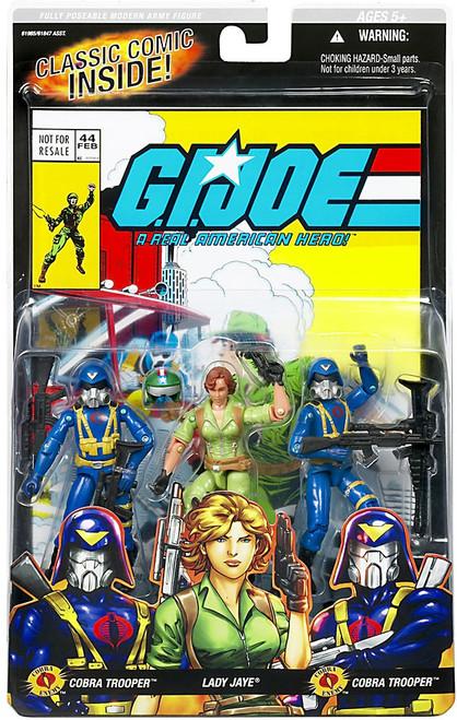 GI Joe Series 4 Cobra Trooper, Lady Jaye & Cobra Trooper Action Figure 3-Pack