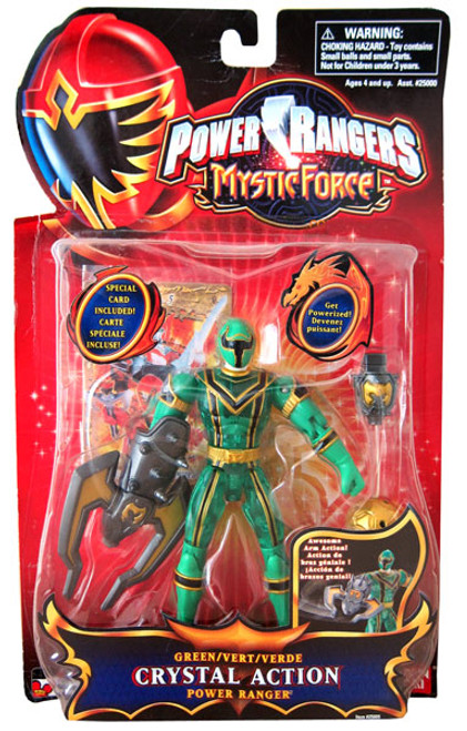 Power Rangers Mystic Force Green Crystal Action Power Ranger Action Figure