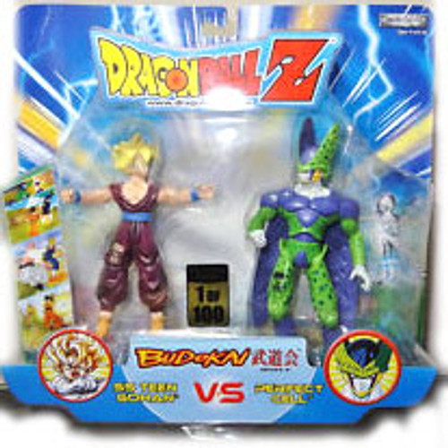 Dragon Ball Z Budokai Battles Teen Gohan vs. Perfect Cell Action Figure 2-Pack