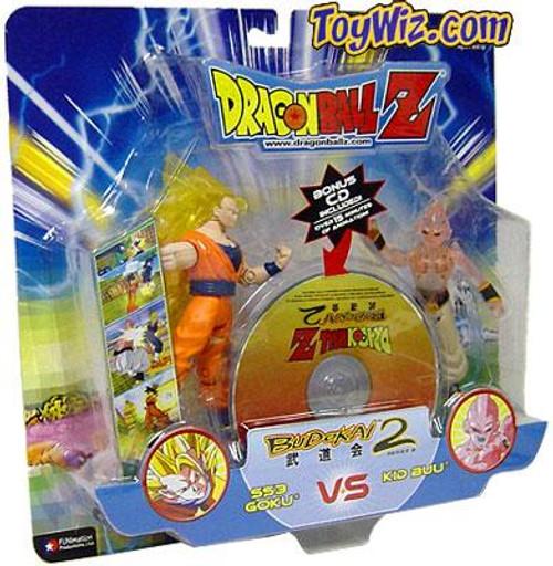 Dragon Ball Z Budokai Battles SS3 Goku vs. Kid Buu Action Figure 2-Pack