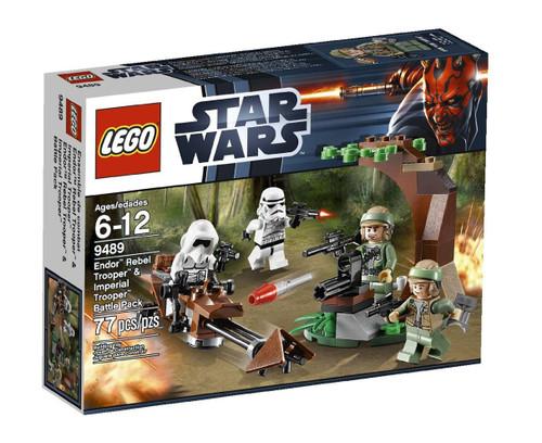 LEGO Star Wars Return of the Jedi Endor Rebel Trooper & Imperial Trooper Battle Pack Set #9489