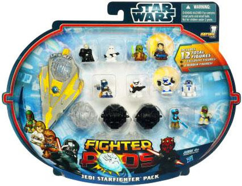 Star Wars Fighter Pods Series 1 Jedi Starfighter Mini Figure Pack