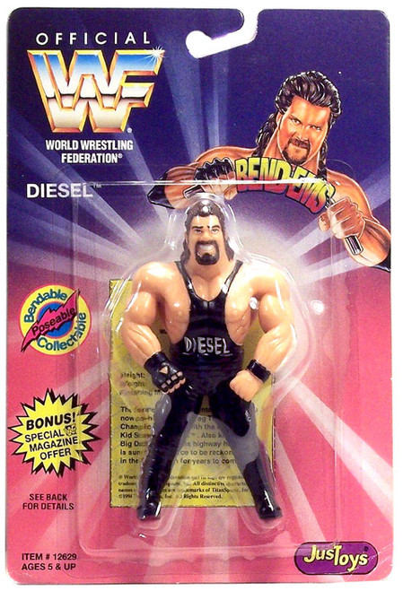 WWE Wrestling WWF Bend-Ems Series 1 Diesel Rubber Figure