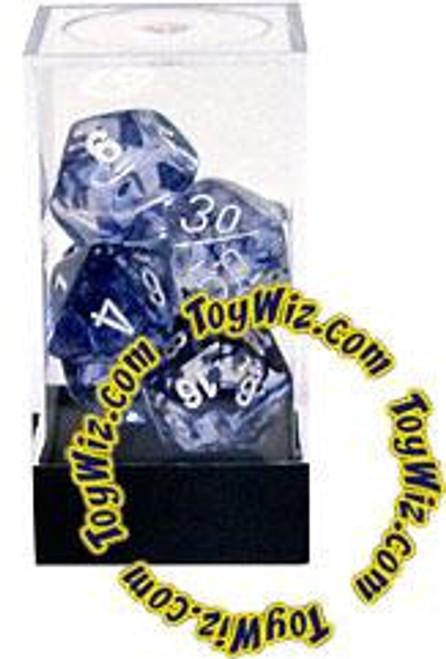 Chessex Nebula Polyhedral Dice [Black w/White]