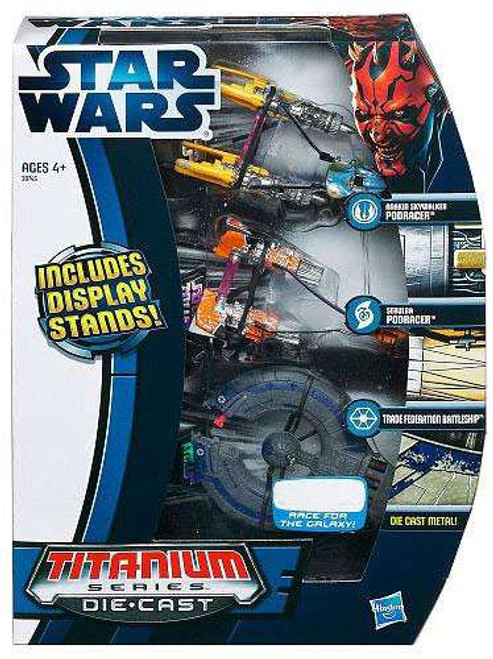 Star Wars The Phantom Menace Titanium Series 2012 Episode I Exclusive Diecast Vehicle Set