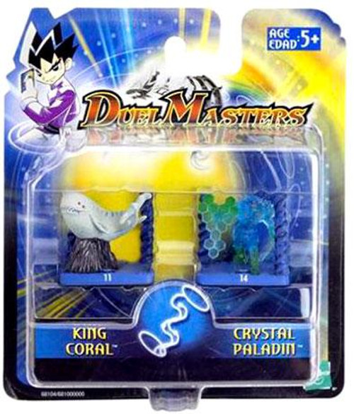 Duel Masters King Coral & Crystal Paladin Mini Figure 2-Pack