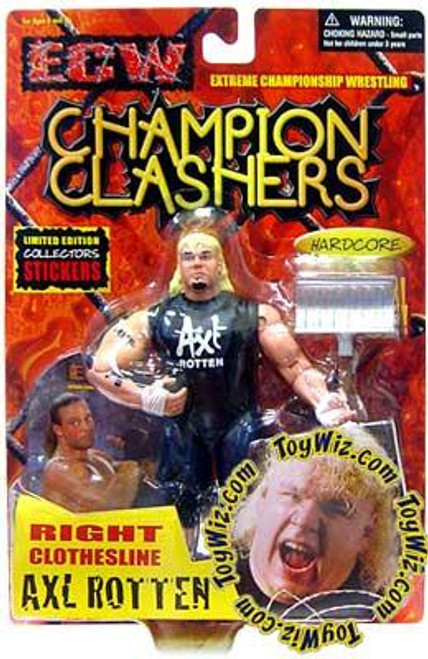 ECW Wrestling Champion Clashers Right Clothesline Axl Rotten Action Figure