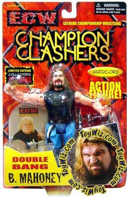 ECW Wrestling Champion Clashers Double Bang Balls Mahoney Action Figure