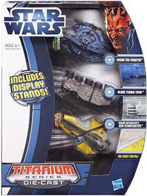 Star Wars Revenge of the Sith Titanium Series 2012 Episode III Exclusive Diecast Vehicle Set